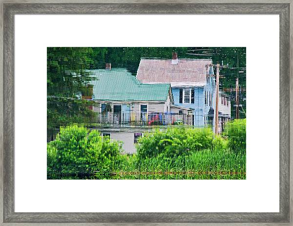 Crayola Cottages Framed Print