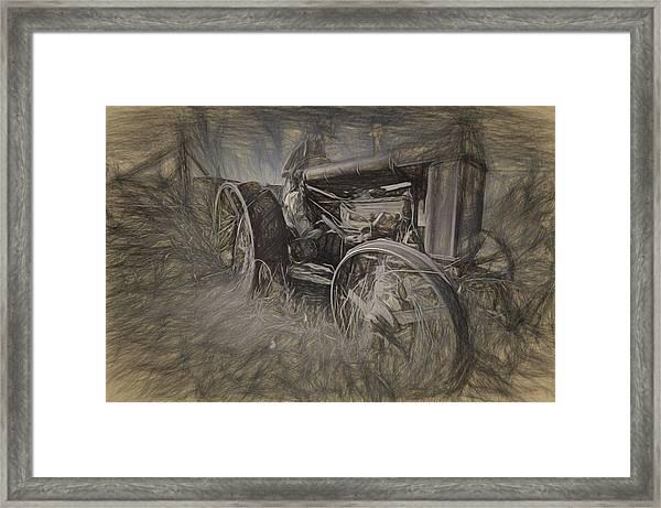 Crazy Farmer Framed Print