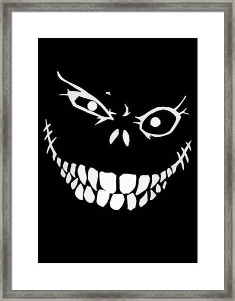 Crazy Monster Grin Framed Print