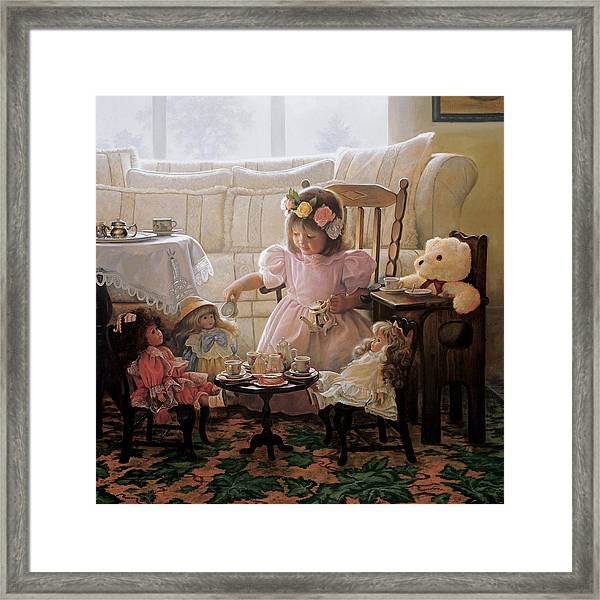 Cream And Sugar Framed Print by Greg Olsen