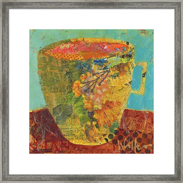 Framed Print featuring the painting Cream Or Sugar? by Shelli Walters