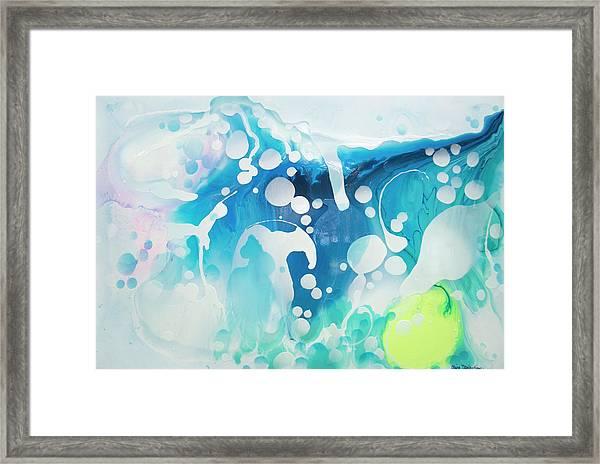 Create A Splash Framed Print