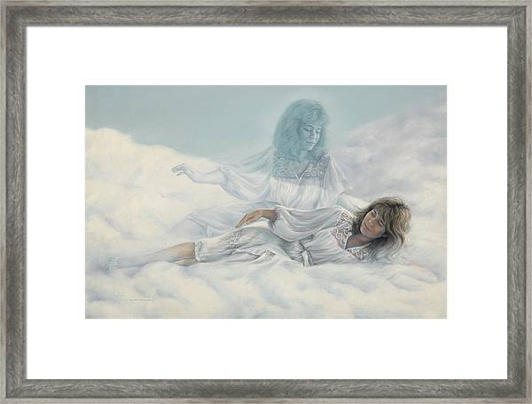Creating A Body With Clouds Framed Print