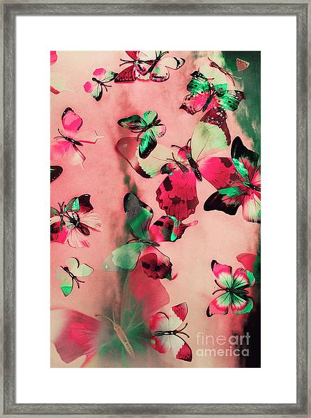 Creative Butterfly Background Framed Print