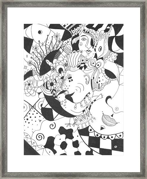 Creatures And Features Framed Print