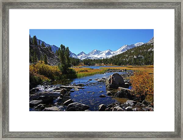 Creek At Little Lake Valley Framed Print
