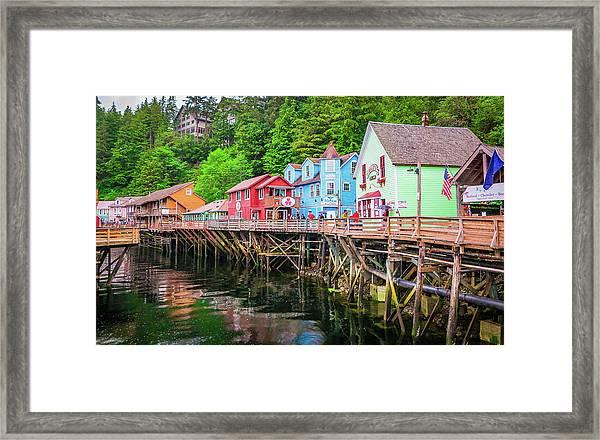 Creek Street Ketchikan Alaska Framed Print