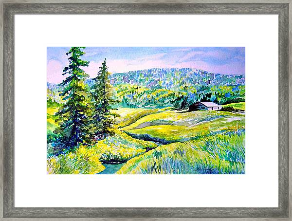Creek To The Cabin Framed Print