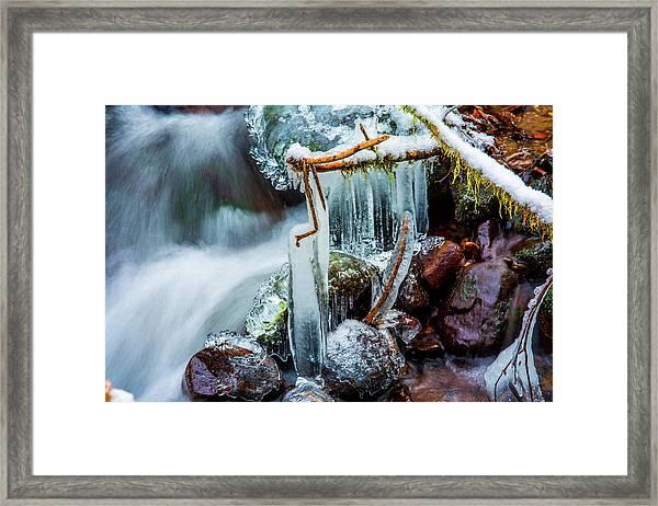 Creekside Icicles Framed Print