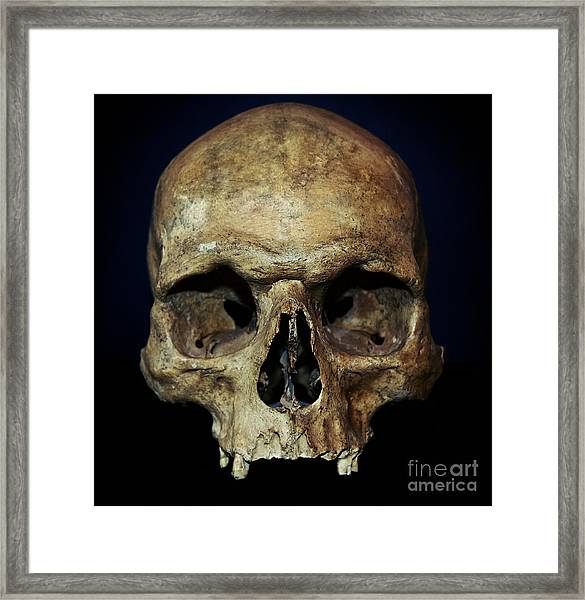Creepy Skull Framed Print