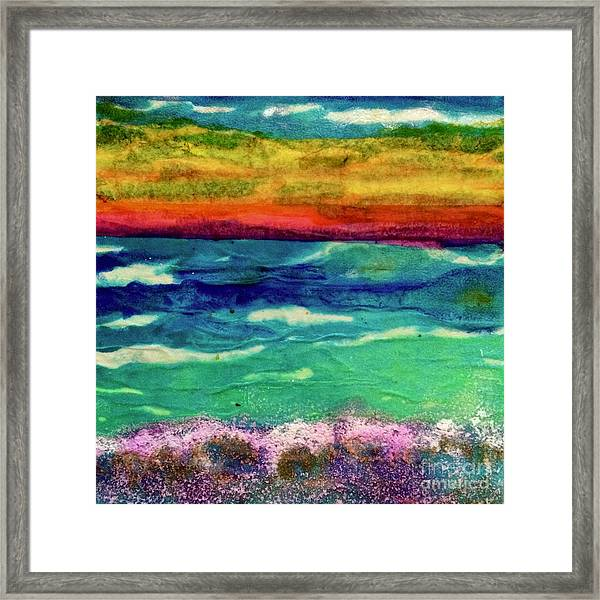 Crepe Paper Sunset Framed Print