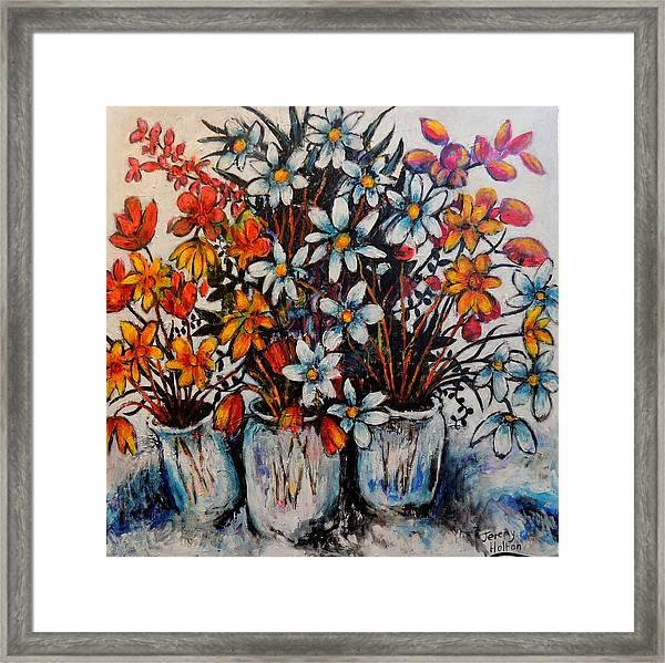 Crescendo Of Flowers Framed Print