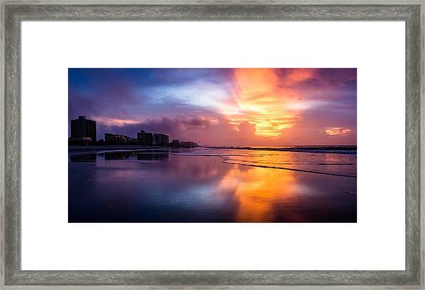 Crescent Beach Sunrise Framed Print