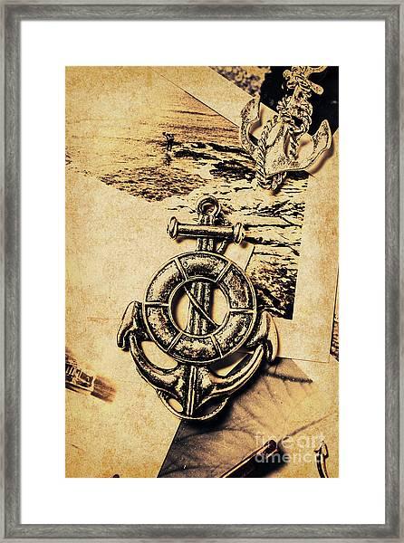 Crest Of Oceanic Adventure Framed Print