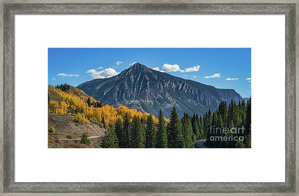 Crested Butte Mountain Framed Print