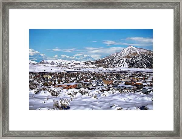 Crested Butte Panorama Framed Print