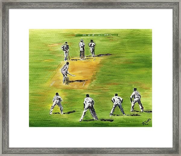 Cricket Duel Framed Print