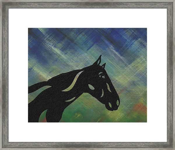 Crimson - Abstract Horse Framed Print