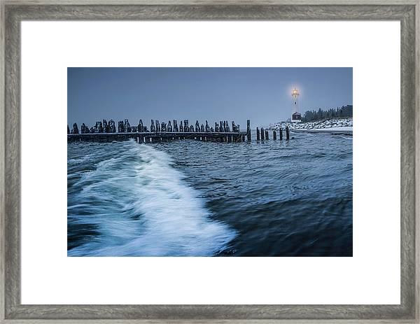 Crisp Point Lighthouse On Lake Superior Framed Print