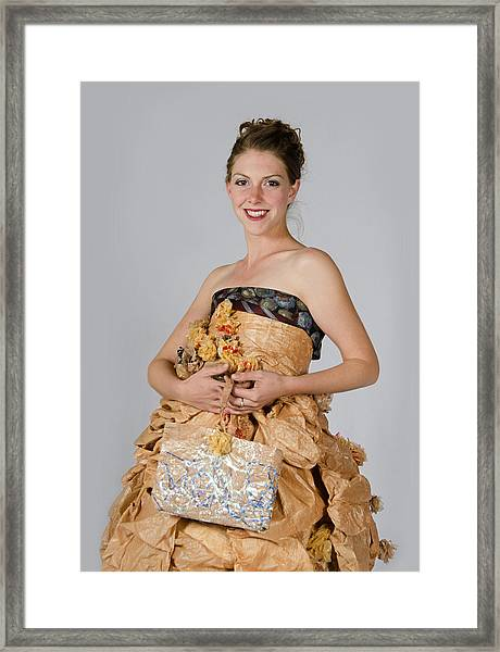 Cristina In Bring Your Own Bags Framed Print
