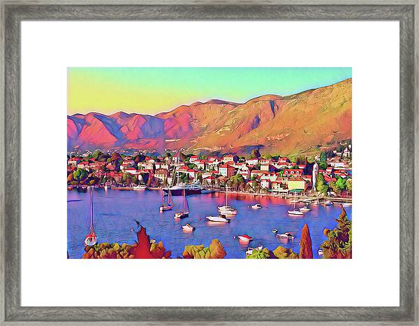 Croatia Coastal Living Framed Print