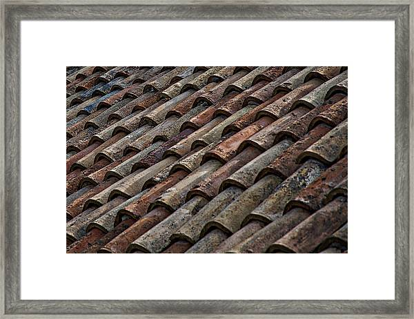 Croatian Roof Tiles Framed Print