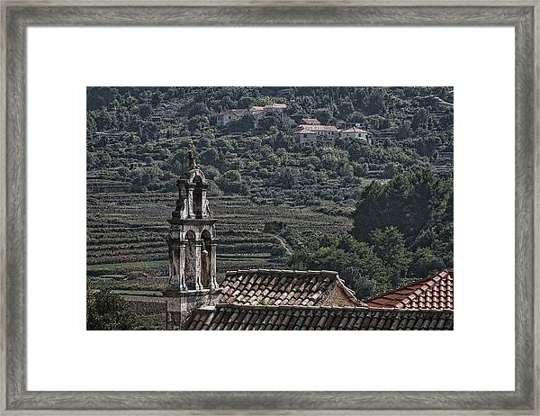 Croatian Wine Country Framed Print