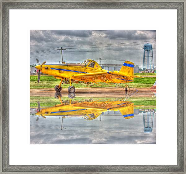 Crop Duster 002 Framed Print