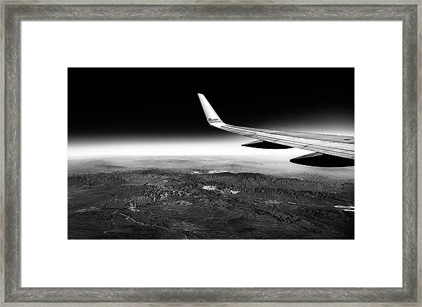 Cross Country Via Outer Space Framed Print