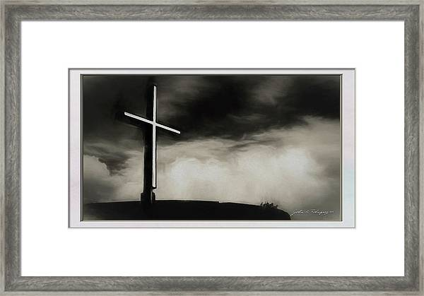 Cross On A Hill Framed Print