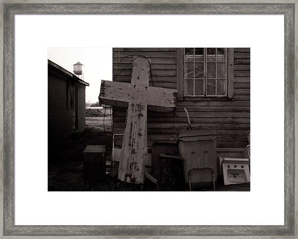 Cross Tallulah Louisiana Framed Print