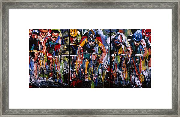 Cross The Line Framed Print