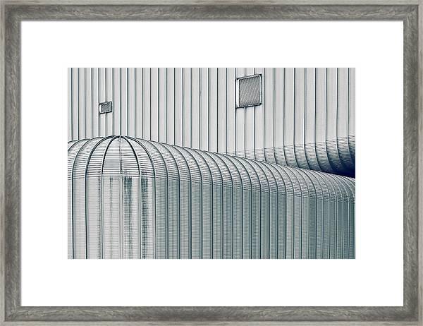 Crossing Line Framed Print