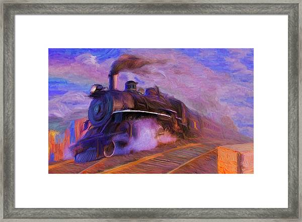 Crossing Rails Framed Print