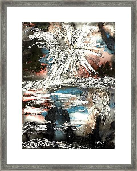 Crossing Spheres Framed Print by Anne-D Mejaki - Art About You productions