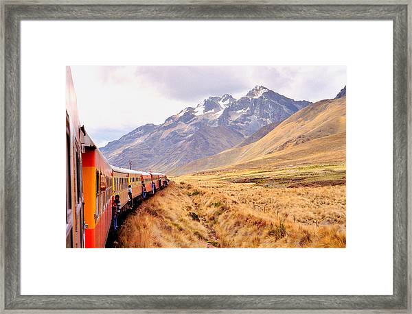 Crossing The Andes Framed Print