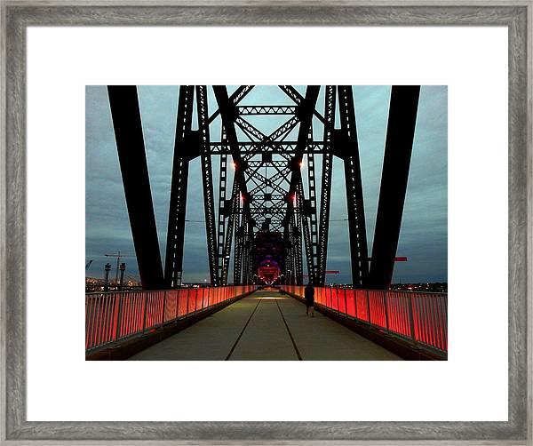 Crossing The Bridge Framed Print