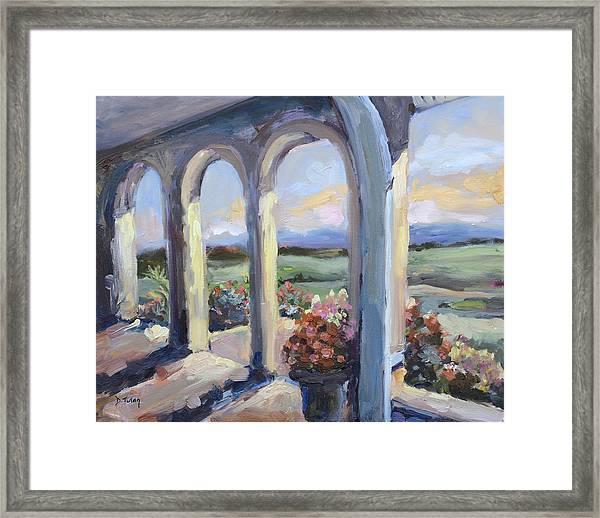 Crosskeys Vineyards In Virginia Framed Print