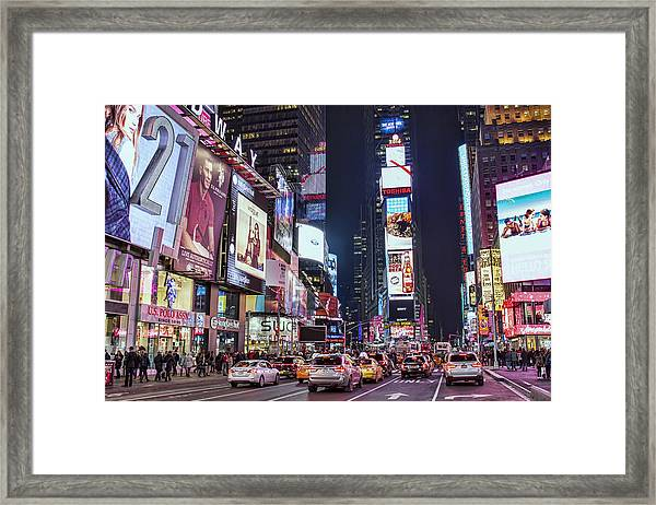 Crossroads Of The World Framed Print by Zev Steinhardt