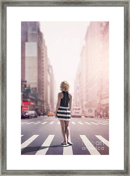 Crosstown Swing Framed Print