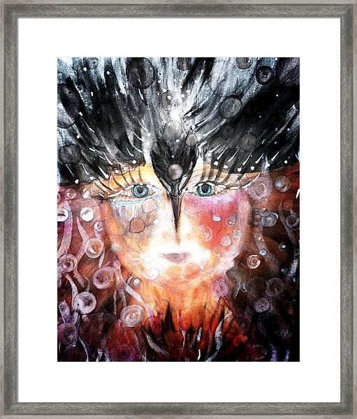 Crow Child Framed Print