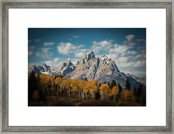 Crown For Tetons Framed Print