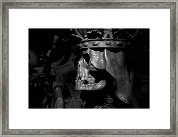 Crowned Death II Framed Print