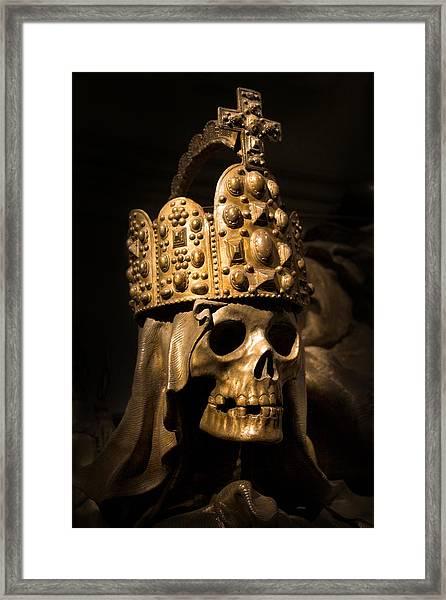 Crowned Death Framed Print