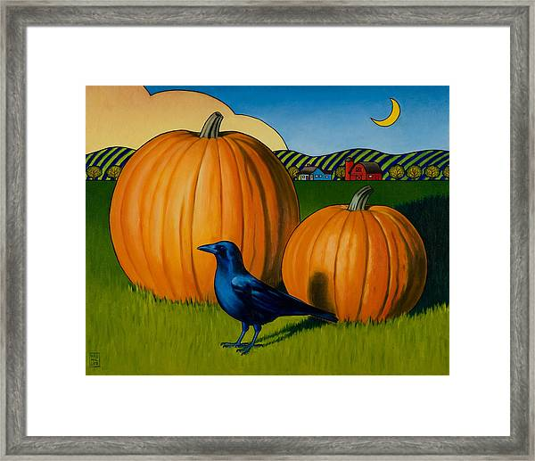 Crows Harvest Framed Print by Stacey Neumiller