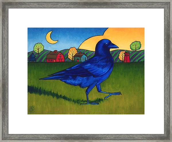 Crows Run Framed Print by Stacey Neumiller