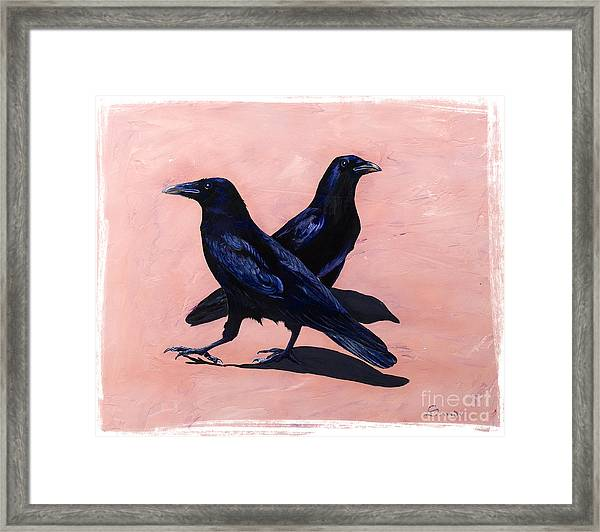 Crows Framed Print
