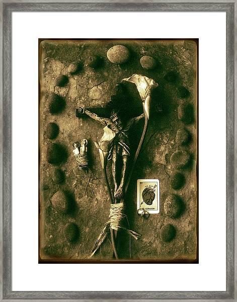 Crucifix, The Loss Framed Print
