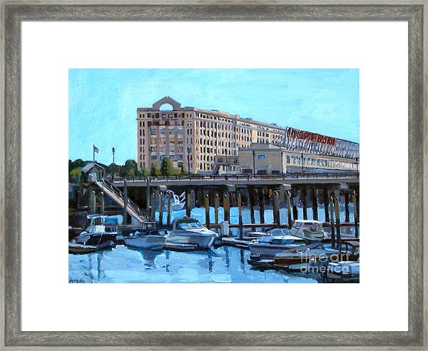 Cruiseport Boston Framed Print