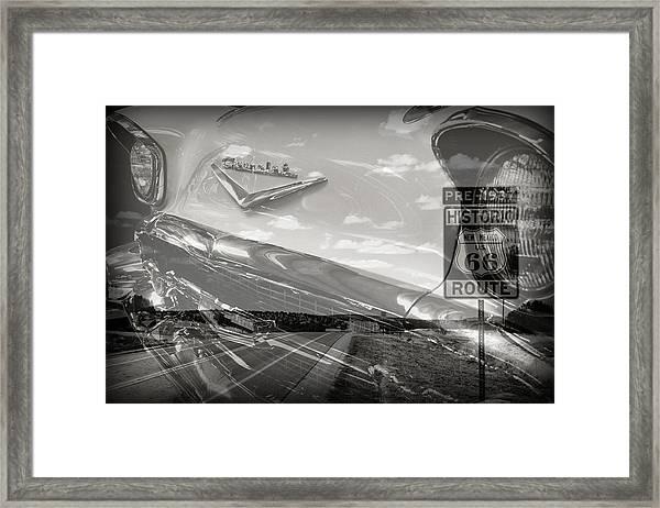 Cruisin Route 66 Framed Print